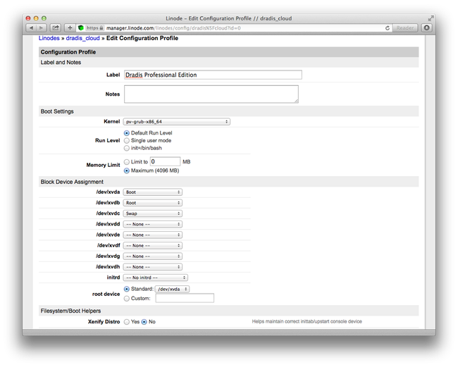 how to create a new linode