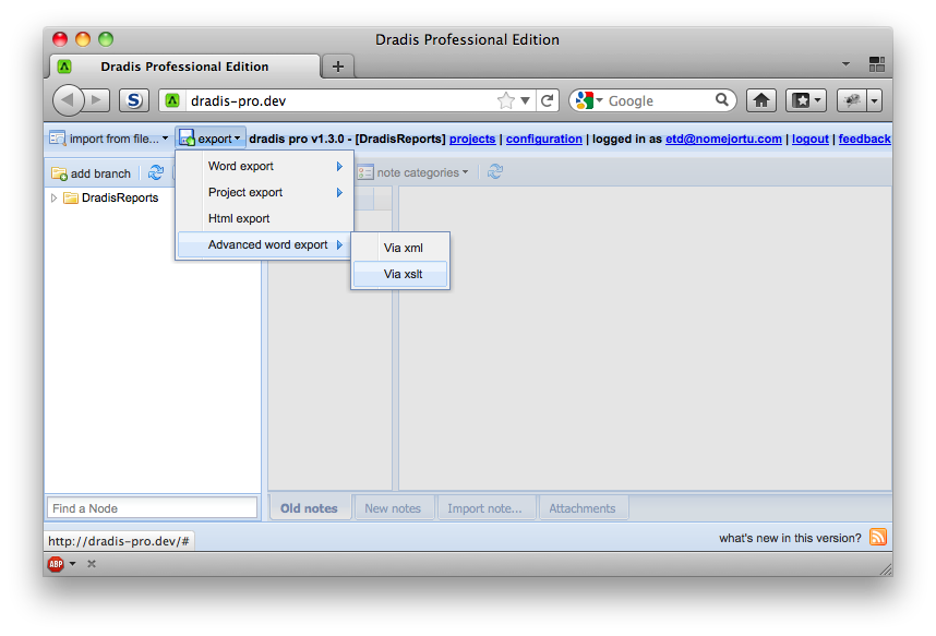 Creating Word reports with XSL transformations - Support - Dradis ...